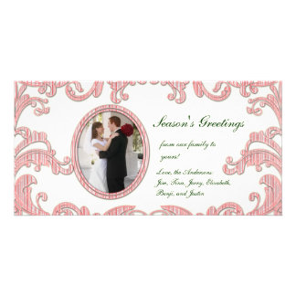 Peppermint Flourishes Photo Card
