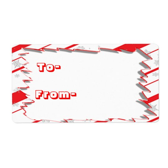 Peppermint Gift Tag