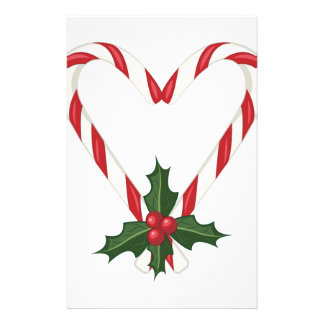 Peppermint Heart Stationery