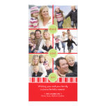 Peppermint Holiday Photo Collage Card Photo Card