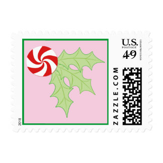 Peppermint Holly Postage