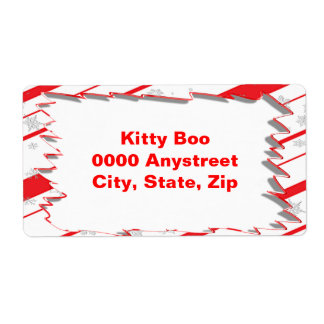 Peppermint Large Shipping Labels