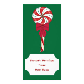 Peppermint Lollipop Photo Card