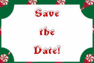 christmas save the date cards zazzle