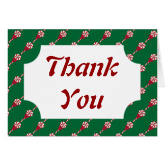 Peppermint Lollipops Thank You Note Card