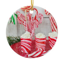 Peppermint Lover Ceramic Ornament