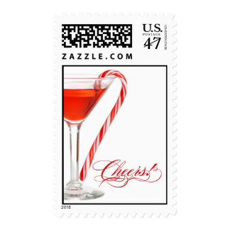 Peppermint Martini Christmas Cocktail Party Postage