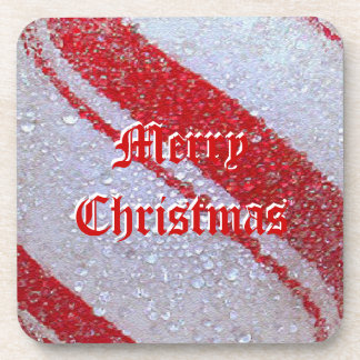 Peppermint Merry Christmas Cork Coaster