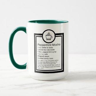 Peppermint Mocha Coffee recipe Mug