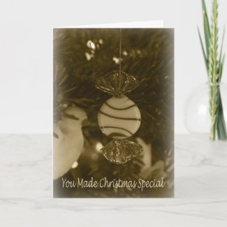 Peppermint Ornament Thank You Card card