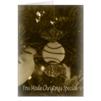 Peppermint Ornament Thank You Card