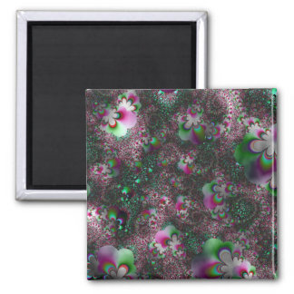 Peppermint Paisley Fantasy Abstract Art Print Magnets