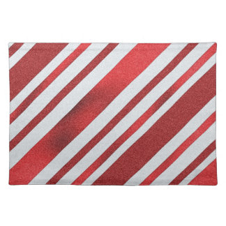 Peppermint Pattern Holiday Place Mat Cloth Placemat