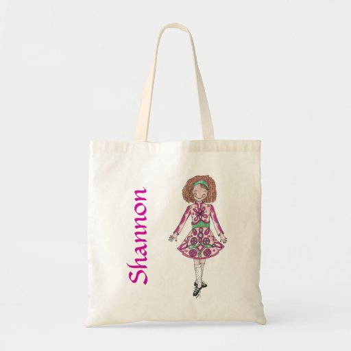 Peppermint Pink Irish Dancer Tote Canvas Bag