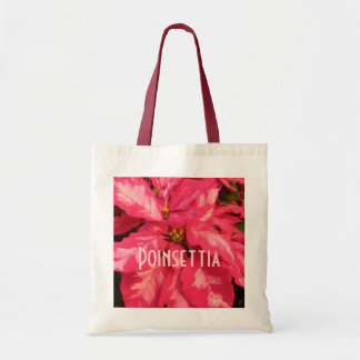 Peppermint Pink Poinsettia Budget Tote Bag