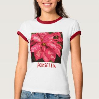 Peppermint Pink Poinsettia T-Shirt
