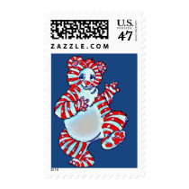 Peppermint Polar Bear Postage