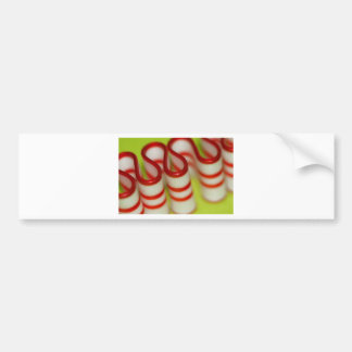 Peppermint Red and White Ribbon Candy Christmas Bumper Sticker