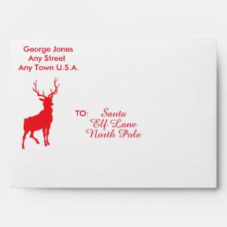 Peppermint Reindeer Envelope