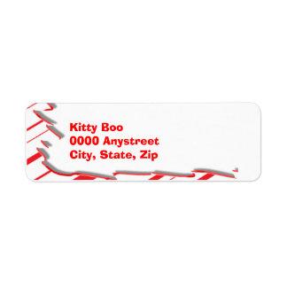 Peppermint Return Address Label