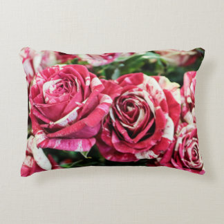 Peppermint Roses Accent Pillow