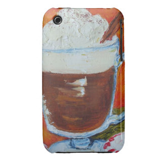 Peppermint Snowshoe Hot Chocolate iPhone 3 Case