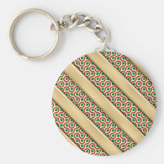 Peppermint Squiggles Keychain