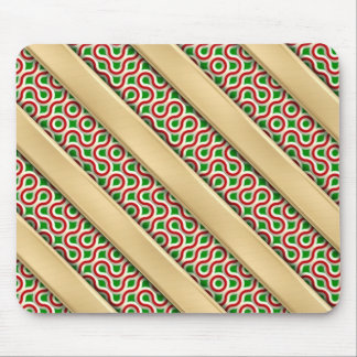 Peppermint Squiggles Mousepad
