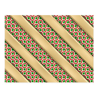 Peppermint Squiggles Postcard