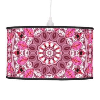 Peppermint Stick, Abstract Pink Lace Jewels Candy Pendant Lamps