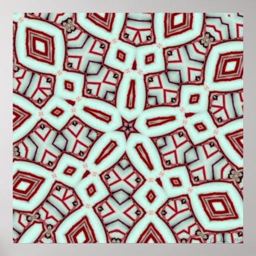Peppermint Stick Star Dec 2012 Poster