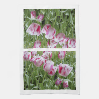 Peppermint Striped Tulips Towels