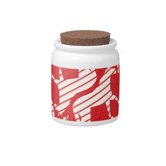 Peppermint Striped Unicorn Candy Jars