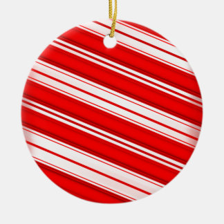 Peppermint Stripes Ceramic Ornament