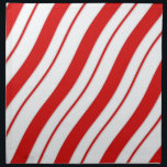 """Peppermint Stripes Cloth Napkin<br><div class=""""desc"""">Set of 4 20"""" x 20"""" cloth dinner napkins with an image of red and white peppermint stripes. See matching paper cocktail napkin and coasters. See the entire Christmas napkin collection in the HOLIDAYS section.</div>"""