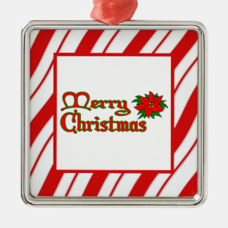 Peppermint Stripes Metal Ornament