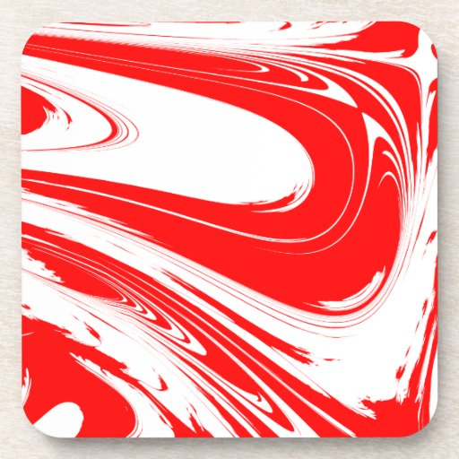 Peppermint Swirl Beverage Coasters