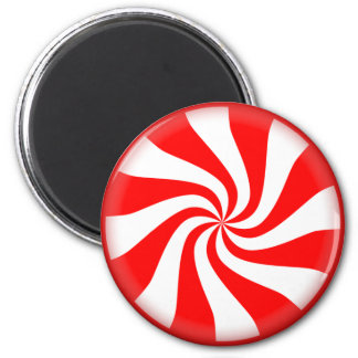 peppermint swirl candy 2 inch round magnet