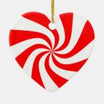 peppermint swirl candy ornament