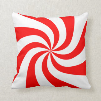 peppermint swirl candy throw pillows