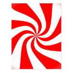 peppermint swirl candy postcard