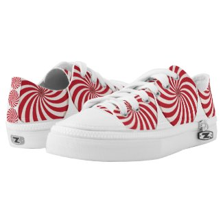 Peppermint Swirl Candy Printed Shoes