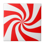 peppermint swirl candy small square tile