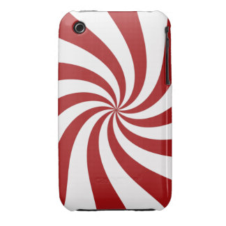 Peppermint Swirl Case-Mate iPhone 3 Cases