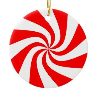 Peppermint Swirl Christmas Ornament ornament