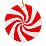 Peppermint Swirl Christmas Ornament ornaments