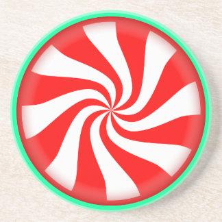Peppermint Swirl Coaster