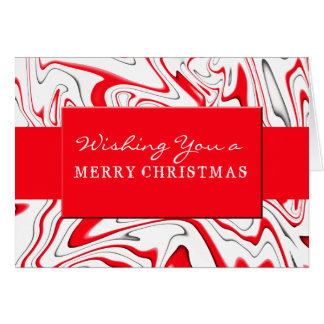 Peppermint Swirl-Customizable Color Greeting Cards