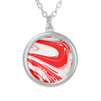 Peppermint Swirl Silver Plated Necklace