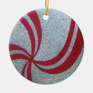 Peppermint Swirl Sparkle Ornament